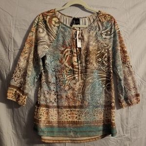 Women's New Direction Knit Top Blouse Size Small